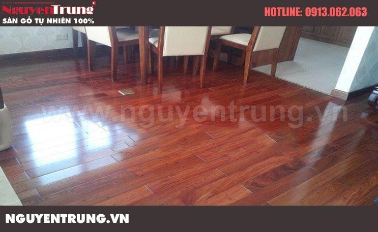Sàn gỗ giáng hương lào – H750
