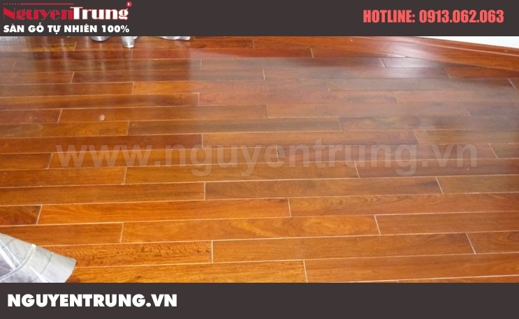 Sàn gỗ giáng hương Lào 18 x 120 x 750
