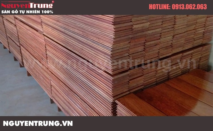 Sàn gỗ Giáng Hương Lào 15 x 90 x 1050
