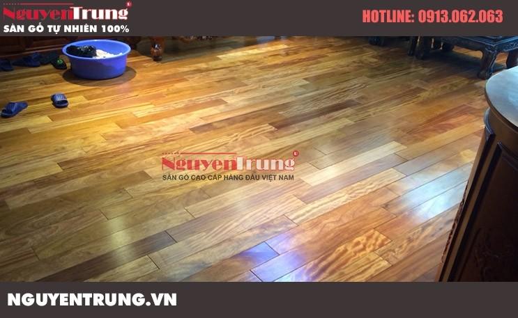 Thi công sàn gỗ Lim Nam Phi tại chung cư Golden Land Hà Nội