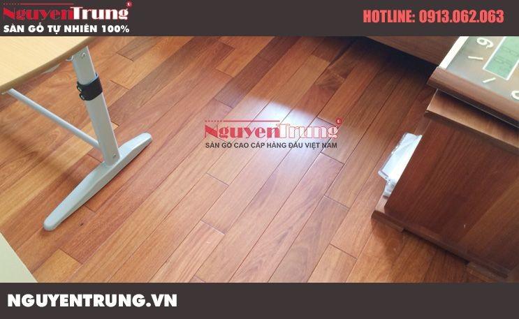 Thi công sàn gỗ Căm Xe Lào tại Dịch Vọng Hà Nội