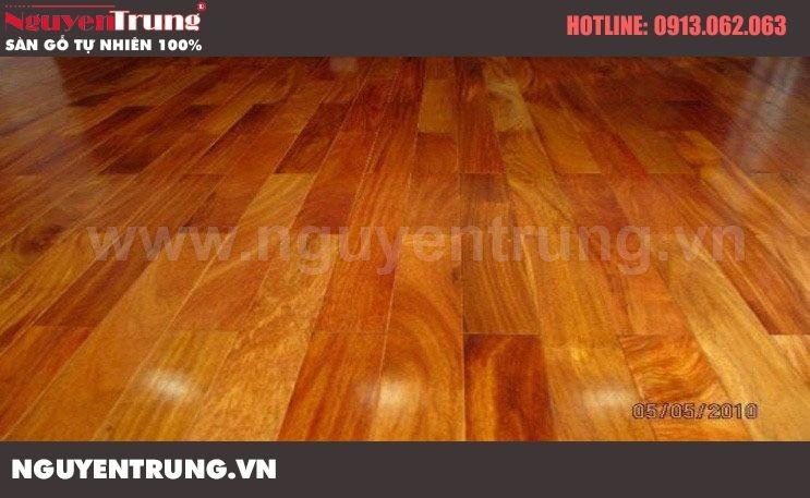 Sàn gỗ gõ đỏ 1050x120x18