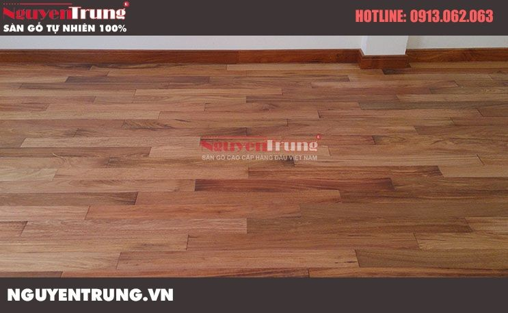 Công trình Sàn gỗ Gõ Đỏ Lào