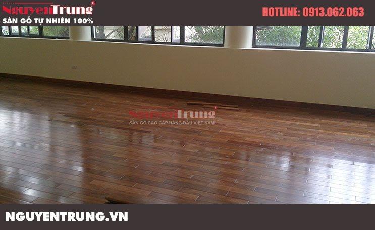 Công trình sàn gỗ Lim Nam Phi Nhà Hát Quân Đội