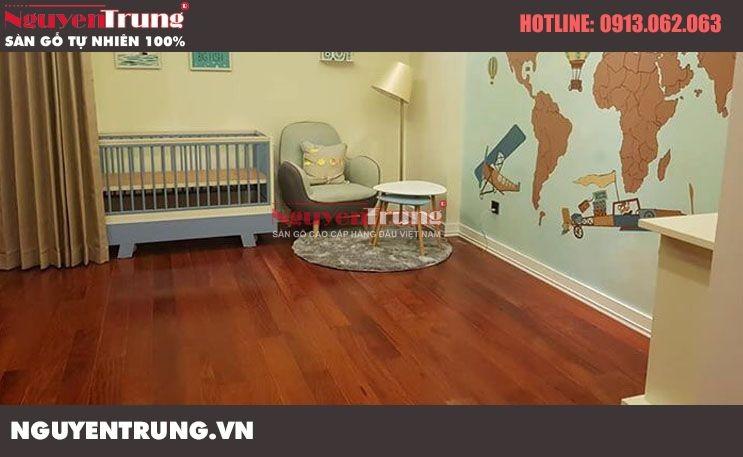 Công trình lắp đặt sàn gỗ Hương Lào