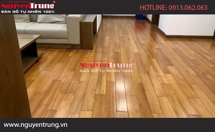Công trình sàn gỗ Teak Myanmar Hải Phòng