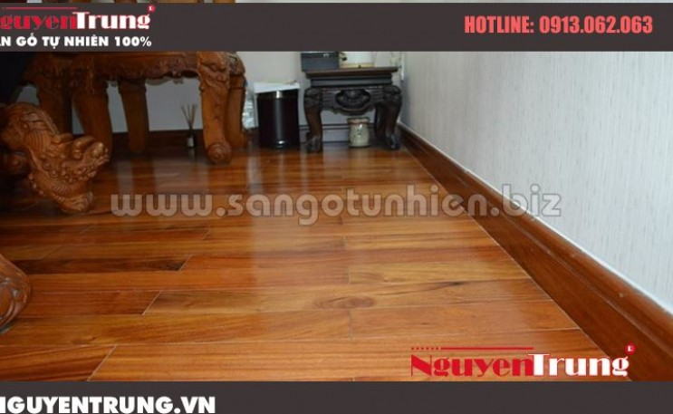 Lát sàn gỗ Gõ Đỏ Lào