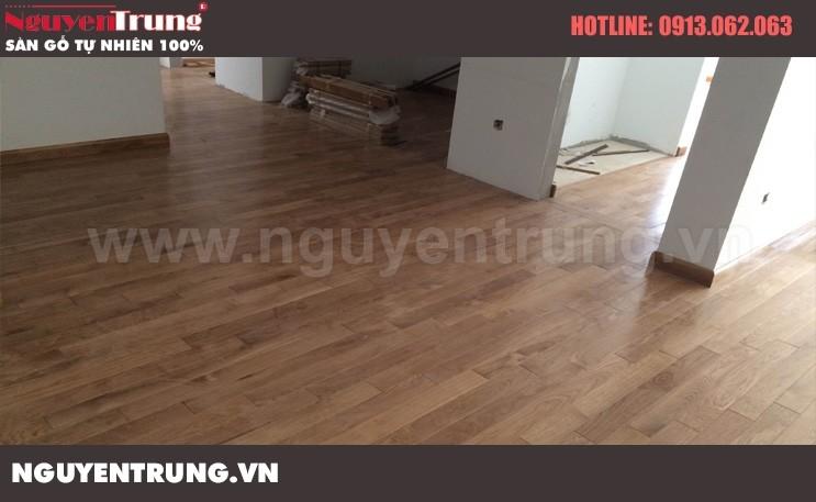 Thi công Sàn gỗ Sồi Mỹ tại Hà Nội
