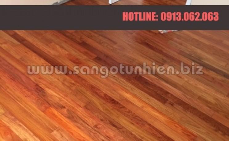 Thi công sàn gỗ Giáng Hương Lào Siputra