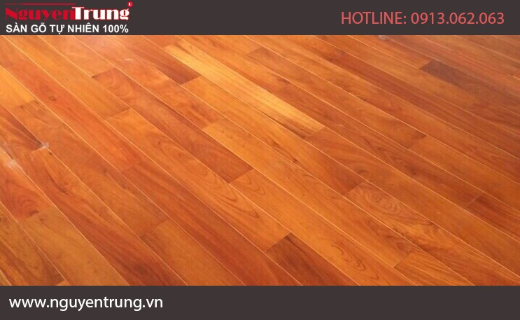 Sàn gỗ Gõ Đỏ  18x120x1200
