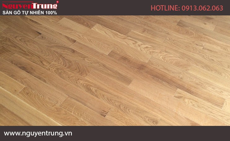 Sàn gỗ sồi Mỹ Solid 15*90*750