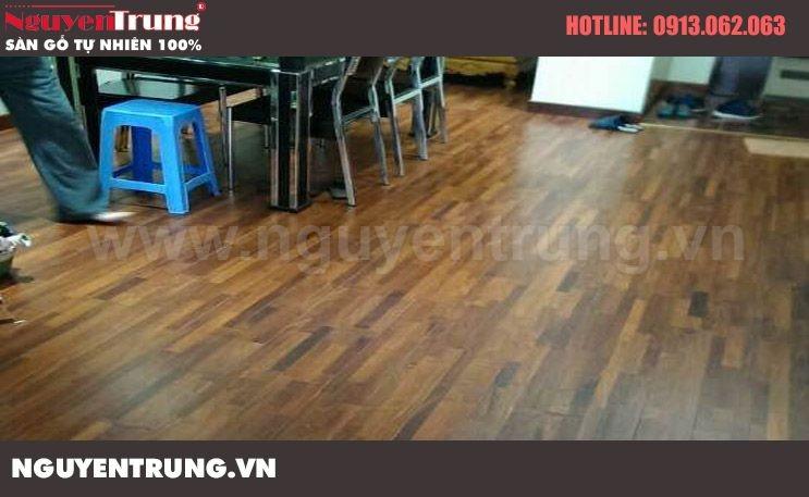 Lắp đặt sàn gỗ căm xe FJL tại khu đô thị Mandarin Hoàng Minh Giám