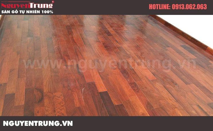 Lắp đặt sàn gỗ Giáng Hương Lào FJ CT2A Nam Cường Cổ Nhuế