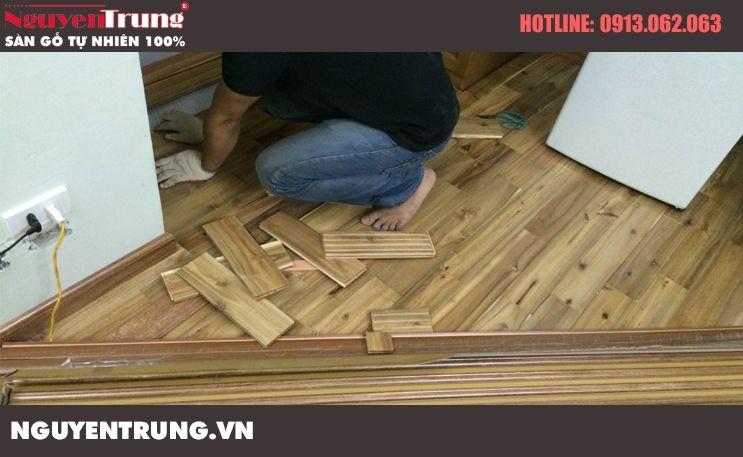 Lắp đặt Sàn gỗ Keo Lào tại Thanh Xuân Hà Nội