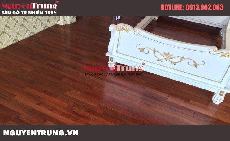 Thi công sàn gỗ căm xe FJL tại Bằng Lăng 3 Vincom Sài Đồng
