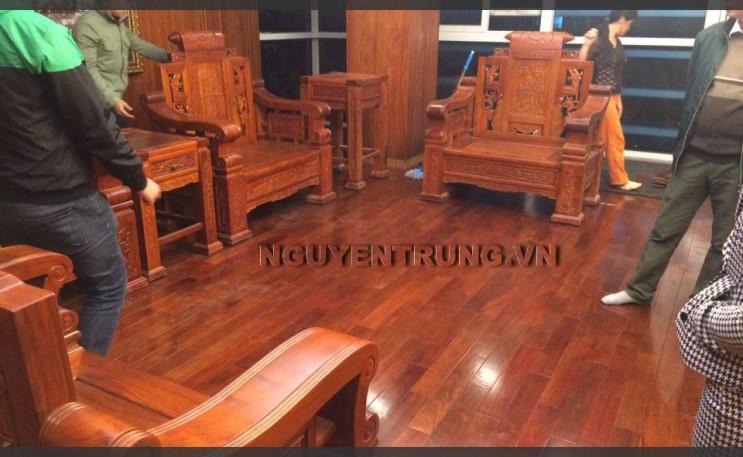 Thi công sàn gỗ Hương tại Hoàng Quốc Việt Hà Nội