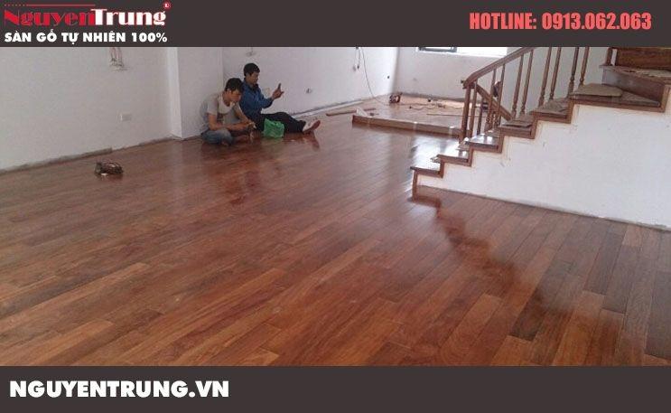 Thi công sàn gỗ Lim Nam Phi tại Hàm Nghi, Mỹ Đình