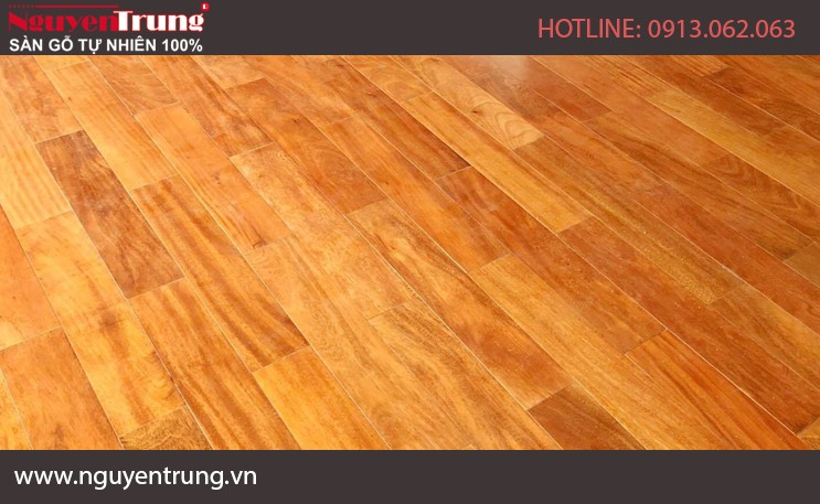 Sàn gỗ Gõ đỏ Nam Phi 18x90x600