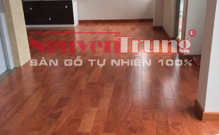 Công trình sàn gỗ Hương Đá nhà chú Hà – Mộc Lan 3-12 Vinhome Greenbay – Mễ Trì
