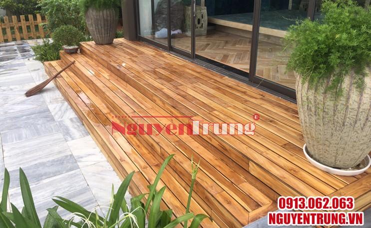Sàn gỗ tự nhiên ngoài trời 03