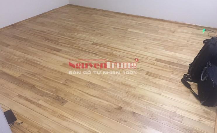 Công trình Sàn gỗ Teak Lào 120m2 tại Liễu Giai Hà Nội